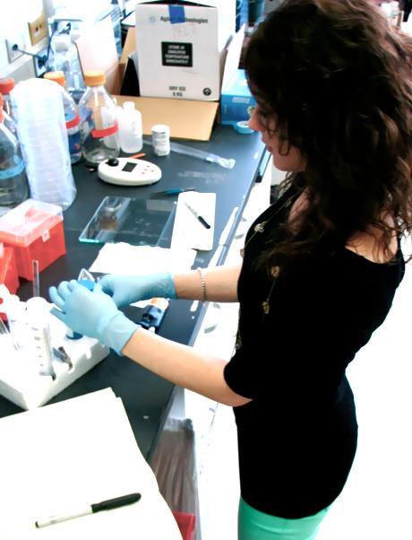 Gina DeStefano in Christiano Lab at Columbia