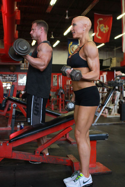 Bob and Laura Hathaway in the gym