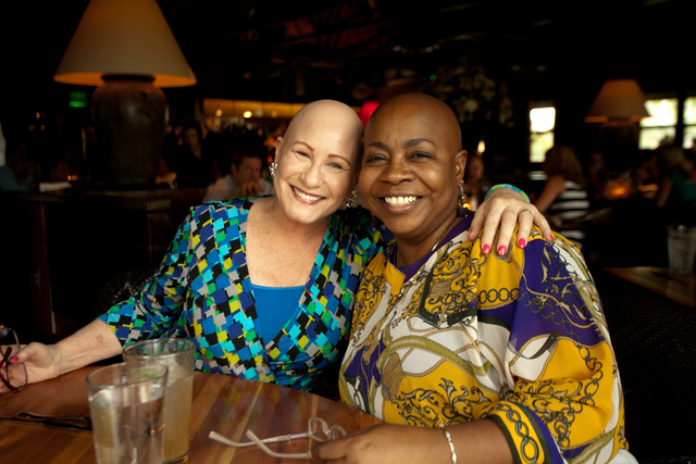 Women with alopecia universalis at Bald Girls Do Lunch in Arizona